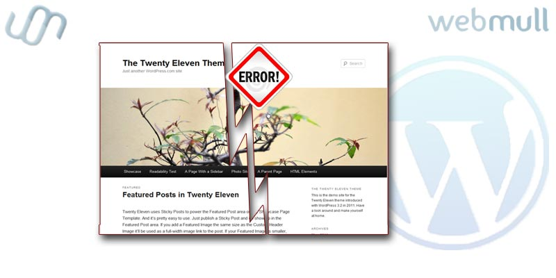 Wordpress: Common Error : themes are installed but incomplete, Themes must have a stylesheet and a template