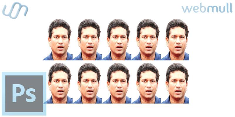 Photoshop : How to make a passport size photo pattern