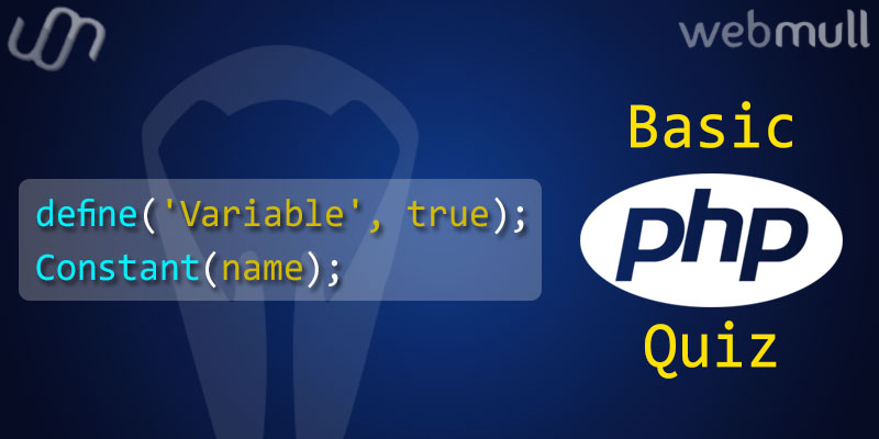 PHP-Basics-Quiz-questions-for-Variables-and-Constant